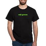 EAT GREEN Black T-Shirt