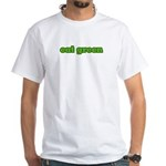 EAT GREEN White T-Shirt