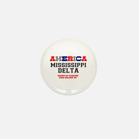 AMERICA REGIONS - MISSISSIPPI DELTA Mini Button
