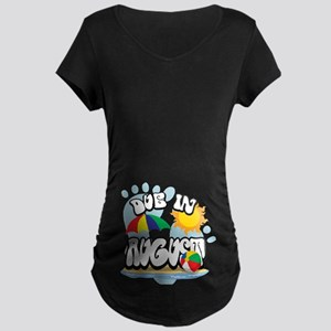Due In August Maternity Dark T-Shirt