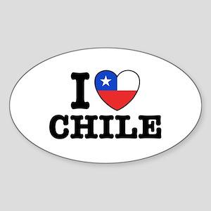 I Love Chile Sticker (Oval)