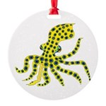 Blue Ringed Octopus Round Ornament