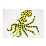 Blue Ringed Octopus 5'x7'Area Rug