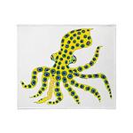 Blue Ringed Octopus Throw Blanket