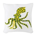 Blue Ringed Octopus Woven Throw Pillow