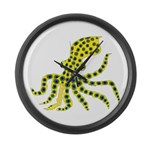 Blue Ringed Octopus Large Wall Clock