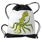 Blue Ringed Octopus Drawstring Bag