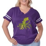 Blue Ringed Octopus Women's Plus Size Football T-S