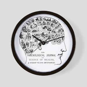 know thyself phrenology head Wall Clock