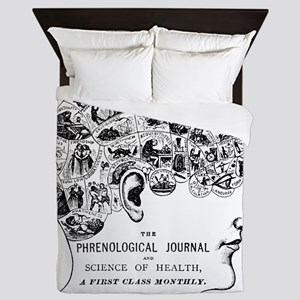 know thyself phrenology head Queen Duvet