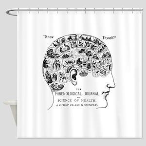 know thyself phrenology head Shower Curtain