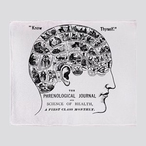 know thyself phrenology head Throw Blanket