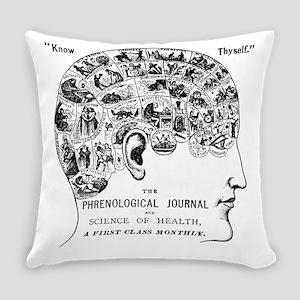 know thyself phrenology head Everyday Pillow