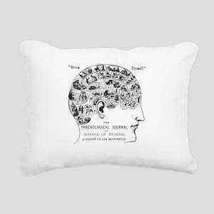 know thyself phrenology Rectangular Canvas Pillow