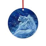 Star Lion Ornament (Round)