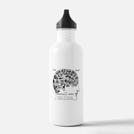 know thyself phrenolog Water Bottle