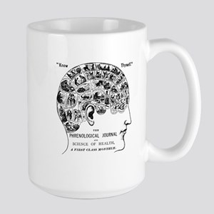 know thyself phrenology head Mugs