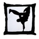 Break L-Kick Throw Pillow