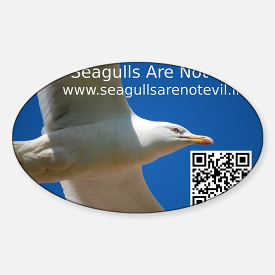 Seagulls Are Not Evil sticker 1 Decal