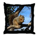 Squirrel in Autumn Throw Pillow