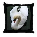 Tranquil Swan Throw Pillow