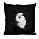 Napping Swan Throw Pillow