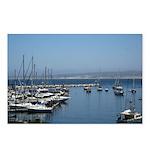 Boats in Harbor Horizontal Postcards (8)