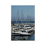 Boats in Harbor Vertical Magnet