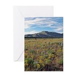 Mountain Field Vertical Greeting Card