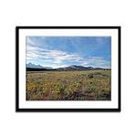 Mountain Field Framed Panel Print