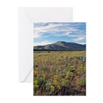 Mountain Field Vertical Greeting Cards (10)