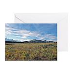 Mountain Field Horizontal Greeting Cards (10)