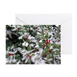 Snowy Holly Horizontal Greeting Cards (20)