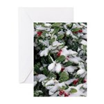 Snowy Holly Vertical Greeting Cards (10)