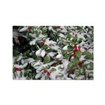 Snowy Holly Horizontal Magnet