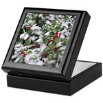 Snowy Holly Keepsake Box