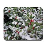 Snowy Holly Mousepad