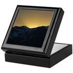 Golden Mountain Sunset Keepsake Box