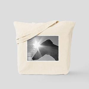 Greyhound Poem Tote Bag