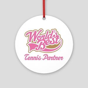 Tennis Partner Ornament (Round)