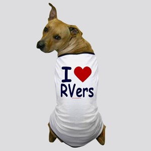 I Love (Heart) RVers Dog T-Shirt
