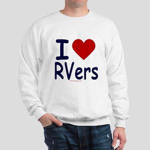 I Love (Heart) RVers Sweatshirt
