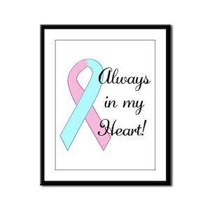 Always in my Heart - Infant L Framed Panel Print