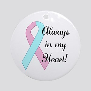 Always in my Heart - Infant L Ornament (Round)