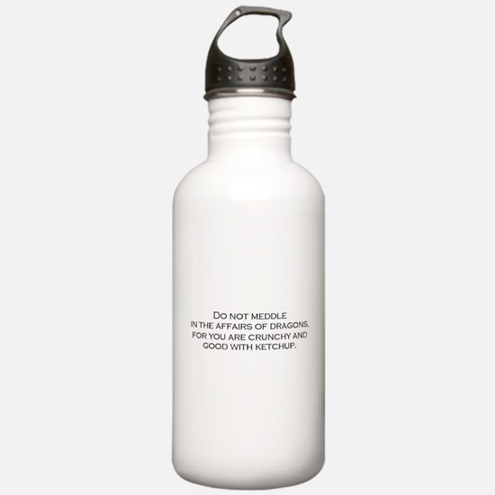 Leave the Dragons Alone Water Bottle