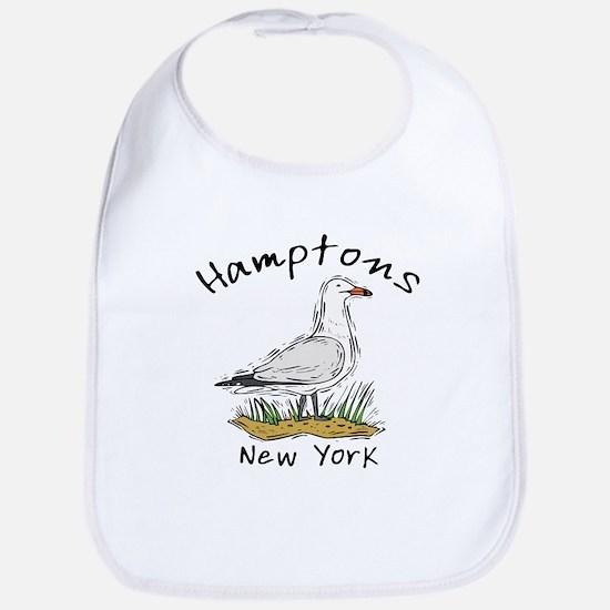 Hamptons NY Seagull Cotton Baby Bib