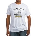 Hamptons NY Seagull Fitted T-Shirt