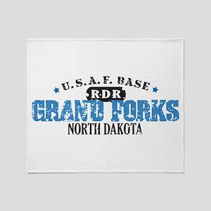 Grand Forks Air Force Base Throw Blanket