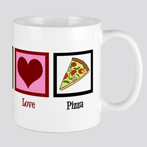 Peace Love Pizza Mug