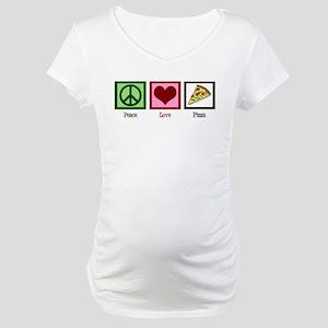 Peace Love Pizza Maternity T-Shirt